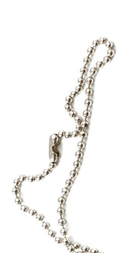 USI Nickel-Plated Steel Beaded Neck Chain, 30
