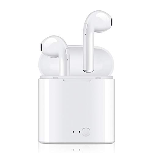 Bluetooth Headphones, Wireless Earbuds Noise Canceling Headphone with 2 Wireless Built-in Mic Earphones and Charging Case for Most Smartphones