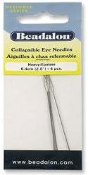 4-Pcs Collapsible Eye Beading Needles Heavy