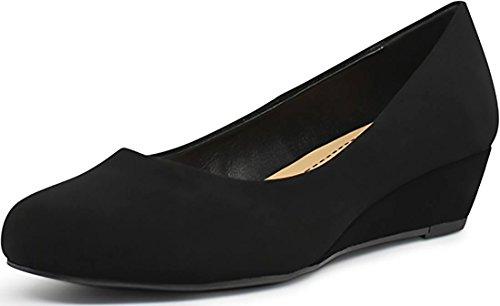 - City Classified Comfort Shoes Women's Round Toe Low Heel Wedges MVE Shoes, mve shoes corey black nb size 8