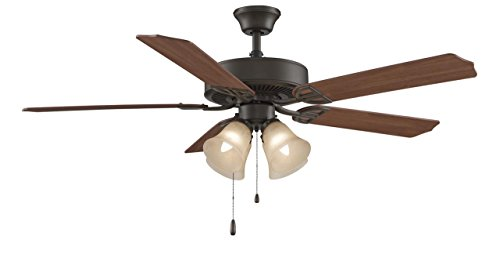 Builder Series Four Light 52 Ceiling Fan - Finish: Oil Rubbe