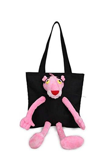 Package Single White Blue Neiyi Black Bag Canvas Character Personality Wild Fashion Weird Tx Summer Leopard Fashion Creative Pink Fresh Messenger ZvRwB6