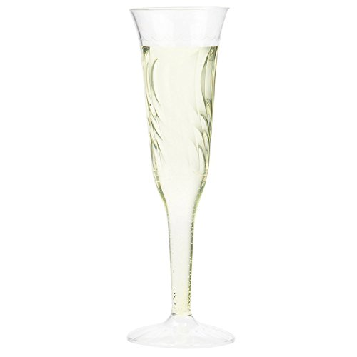 Specialty Stemware - Perfectware Champagne 5-24 Disposable Champagne Flute, 5 oz. (Pack of 24)