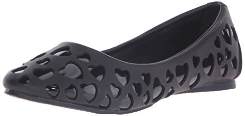 Tuk Women's Heart Cut Out Ballet Flat - Black - 10 B(M) US