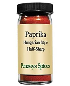Hungarian Style Half-Sharp Paprika By Penzeys Spices 2.5 oz 1/2 cup jar