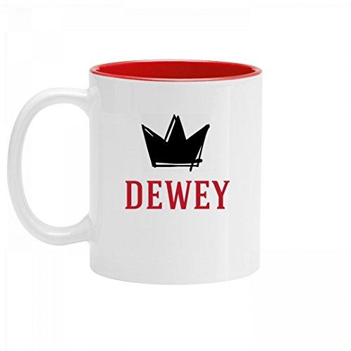 Personalized King Dewey Mug: 11oz Two Tone Ceramic Coffee Mug