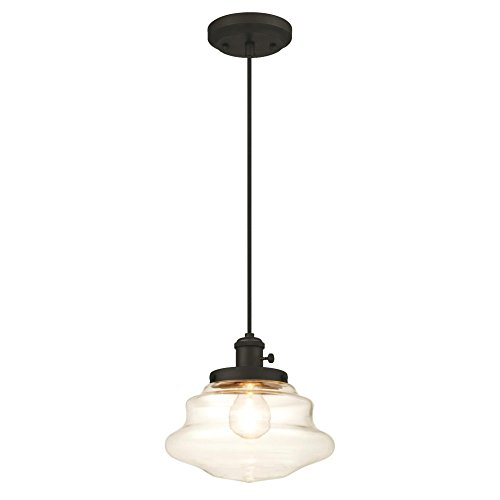 1 Fixture Pendant - Westinghouse 6346000 One-Light Mini Pendant with Clear Glass, Oil Rubbed Bronze