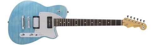 t W 20th Anniversary Maple Fingerboard Electric Guitar Sky Blue Flame Maple (Korina Wood Guitar)