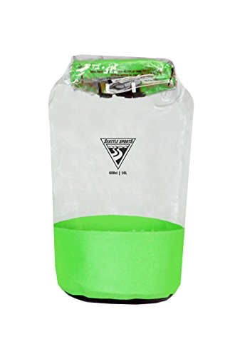 (Built U.S.A .Seattle Sports Glacier Clear Dry Bag, Small/10-Liter)