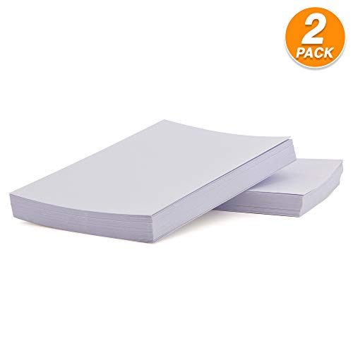 "Emraw Unruled White Index Card Plain Back 3""x5"" - for Home, School & Office (Pack of 300 Count)"