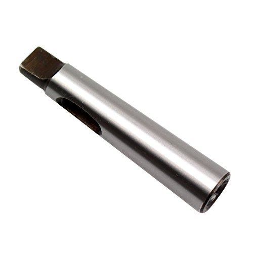 MT1 to MT2 Morse Taper Drill Sleeve Reducing Adapter for Lathe Milling, No. 1 to No. 2