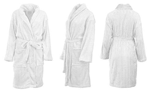 Albornoz para sauna, para hombre y mujer,4tamaños y colores Weiß
