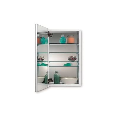 Jensen 52WH244DPF Metro Deluxe Flat Trim Medicine Cabinet, 24-Inch - Reversible installation allows right or left hand door opening Exterior mirrors are premium float glass ensuring distortion-free viewing and a rich reflection Interior mirrors on the back of the cabinet and the inside door add light and functionality - shelves-cabinets, bathroom-fixtures-hardware, bathroom - 317a3OTV QL. SS400  -