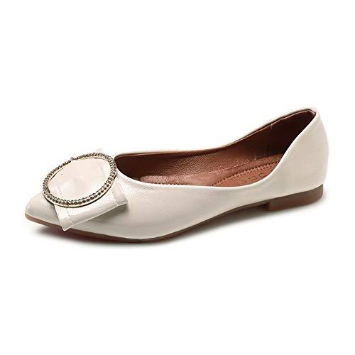Zapatos De Baja Puntiagudos Boca Primavera nbsp; Otoño nbsp;cómodos Hebilla Moda Metal Señoras Y Suela Trabajo Cómodos Planos Flyrcx nbsp; Suave A Zapatos 5vqYxSx