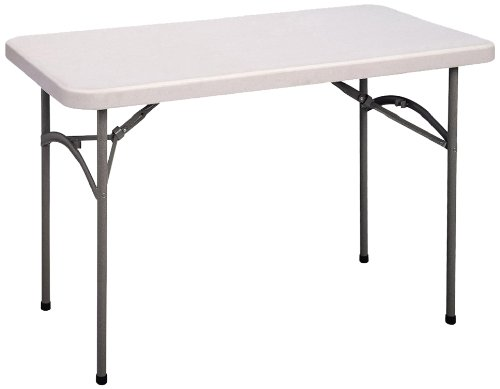(Correll CP2448 Light Weight Economy Blow-Molded Plastic Folding Table, 24x48