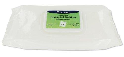 Premium Premoistened Adult Washcloths (ProCure Disposable Premoistened Premium Adult Washcloths with Aloe (12 Pack  - 768 Total Washcloths))