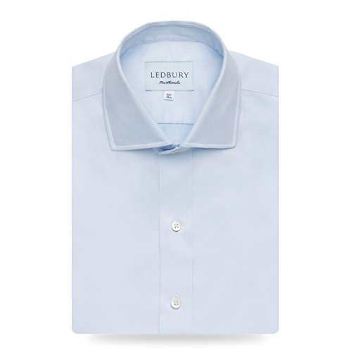 The Blue Fine Twill Spread Dress Shirt by Ledbury (Image #4)