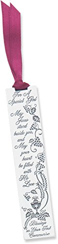 Pewter Communion Girl - Cathedral Art BM128 For a Special Girl First Communion Metal Bookmark, 3-1/2-Inch