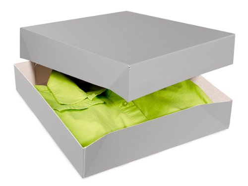 SILVER GLOSS Gift Boxes 12x12x2.5''100% Recycled Gloss Tint - 2 Pc Box (1 unit, 50 pack per unit.) by Nas
