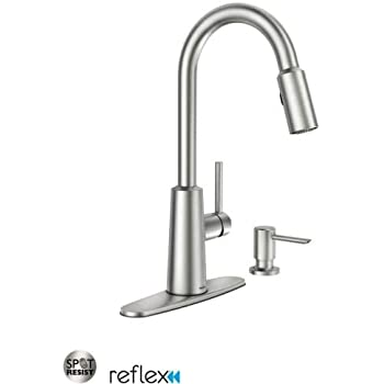 Moen 87066srs Pullout Spray High Arc Kitchen Faucet With