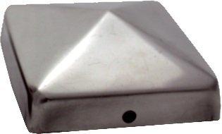 haebelholz 10 St/ück Pfostenkappe Edelstahl 111x111 mm Pyramide