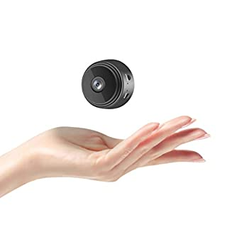 Spy Camera with Audio and Video Live Feed, WiFi with Cell Phone App Wireless Recording -1080P HD Mini Hidden Nanny Cam Wireless with Night Vision and Motion Detection, Built-in Battery Magnetic Camera