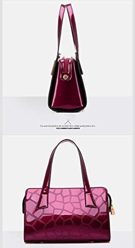 Bolso Large Al Mujer Azul Rojo Vino Koon Hombro Para BSqwq