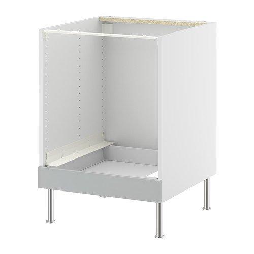 IKEA FAKTUM - Mueble bajo para horno, APPLÅD gris - 60 cm: Amazon ...