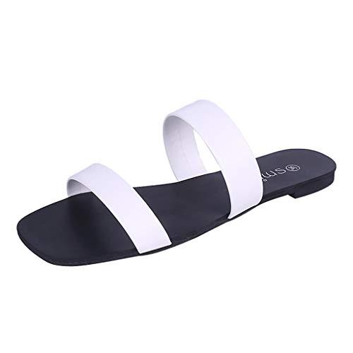 Ragazza Regalo Trasparenti Roma Women Ihengh Pantofola 2019 Nero Shoes Peep Infradito Sandali Estivo Toe Casual Sandals Elegante Bianco Moda Nuovo Spiaggia Donna FwqfHZ