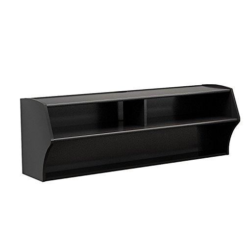 Audio Video Furniture Audio (FUVYH Living Room Furniture Wall Mounted Audio/Video Console (Black))