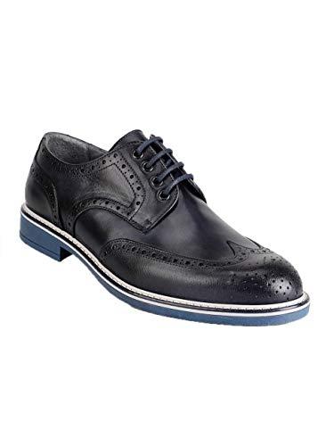 Turquesa Para Cordones Hombre Zapatos De Cuero Freetime UqIYEY