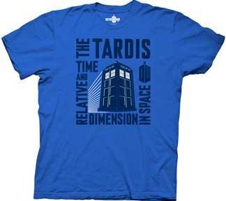 Doctor Who Tardis Time & Relative T-Shirt