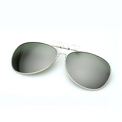 FBNSJA Clásico Gafas de Sol polarizadas Clip en Myopia Retro ...