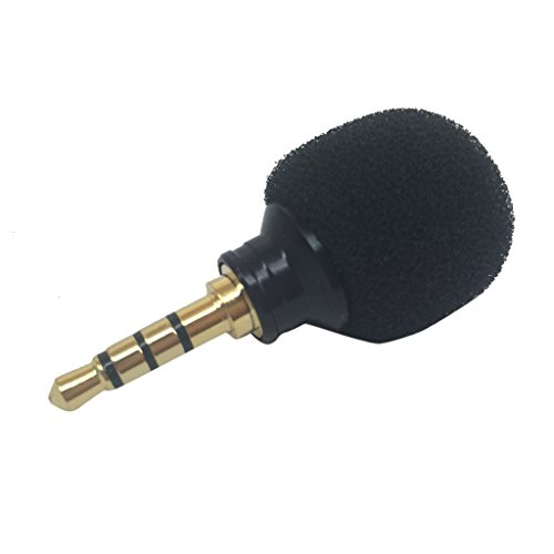 3.5mm Mini Stereo Microphone Mic -Mobile Phone Laptop Recording Small
