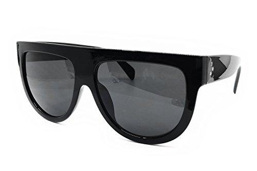 3da292b003 O2 Eyewear 6520 Oversize Mirror Tint Designer Flat Top Womens Mens  Sunglasses (Oversize