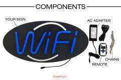 BuyDirectSign Jumbo LED ABIERTO Sign 8 Flashing Modes Remote Control BZ-B001 Red /& Green 32x16 PVC Foamboard Very Bright 1 Year Warranty