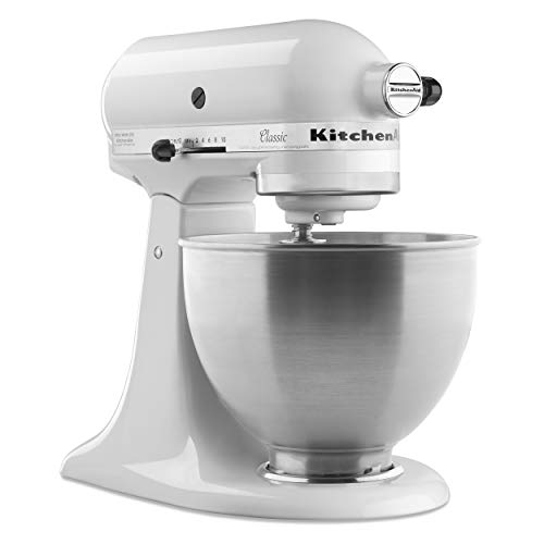 KitchenAid Classic Series 4.5 Quart Tilt-Head Stand Mixer, White (K45SSWH) - http://coolthings.us