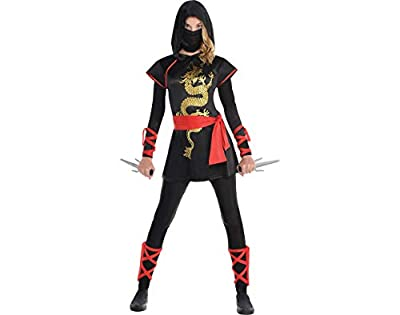 AMSCAN Ultimate Ninja Halloween Costume for Teen Girls, Adult Medium with Included Accessories