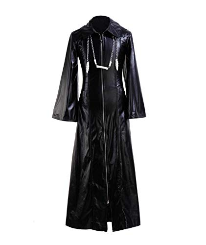 Roxas Costume Halloween Role Play Game Cosplay PU Jacket for Men (XX-Large, Jacket)]()