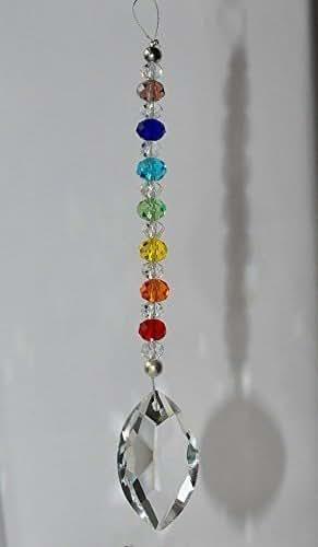 Amazon.com: Crystal Suncatcher Rear View Mirror Car Charm Ornament, Chakra Decoration, Hanging ...
