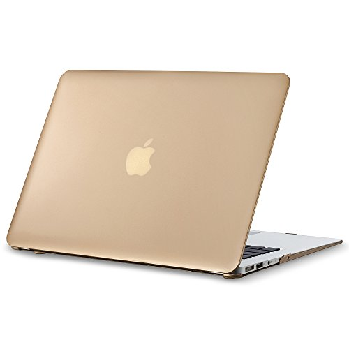 """Kuzy AIR 13-inch GOLD Metallic Hard Case for MacBook Air 13.3"""" (A1466 & A1369) (NEWEST VERSION) Matte Shell Cover - GOLD"""