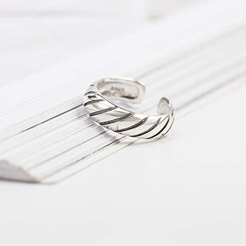 [スポンサー プロダクト]ヨーロッパとアメリカのスタイルのクールなニュートラルな弓と矢の形の開口調節可能なリングレトロシルバーレディースリングメンズレディースジュエリー … (スタイル1)