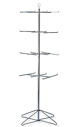 "SSWBasics 4-Tier Chrome Wire Spinner Rack (4 Tiers - Space 12"" Apart)"