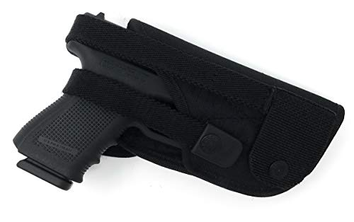 Tactical Hunting Gun Belt Holster - by Houston | Black Nylon, Soft and Durable Material | Suede Interior for Protection | OWB | Fully Adjustable Design ()
