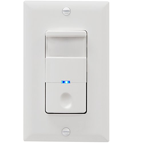 TOPGREENER TDOS5-J-W Motion Sensor Switch, 4A, No Neutral Required Models, Heavy Duty, Single-Pole, White by TOPGREENER