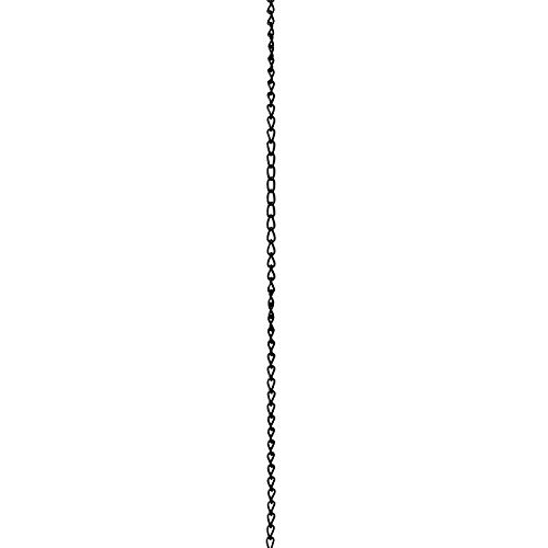 14l Pendant - RCH Hardware CH-S54-14L-BLK-3 | 12 Gauge Decorative Solid Steel Twist Link Fixture Chain | 3 Foot Increments |Black Finish
