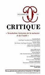 Critique, N° 763, Décembre 201 : Yerushalmi, historien de la mémoire et de l'oubli