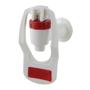 DealMux plástico de peças de reposição dispensador de água Empurre Tipo torneira Toque Vermelho Branco