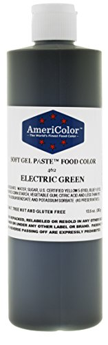 ELECTRIC GREEN 13.5 Ounce Soft Gel Paste Food Color