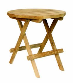 Home Feeling Teak Beistelltisch Tisch Balkontisch Holz Klappbar O 40
